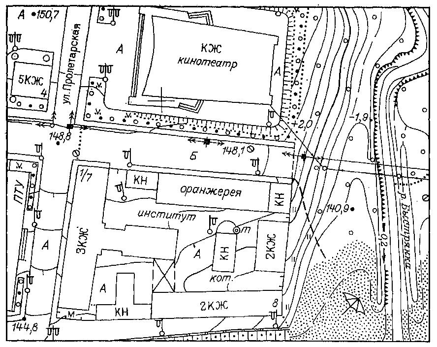 Изобразить схему населенного пункта
